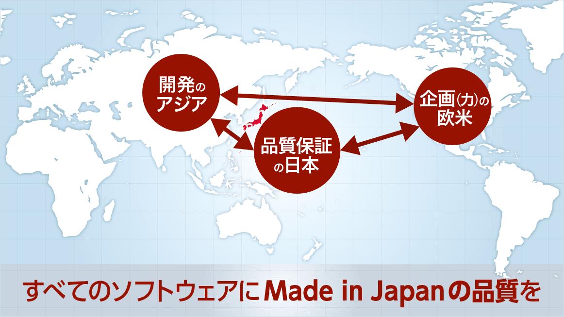 世界の品質保証を擔える會社イメージ図